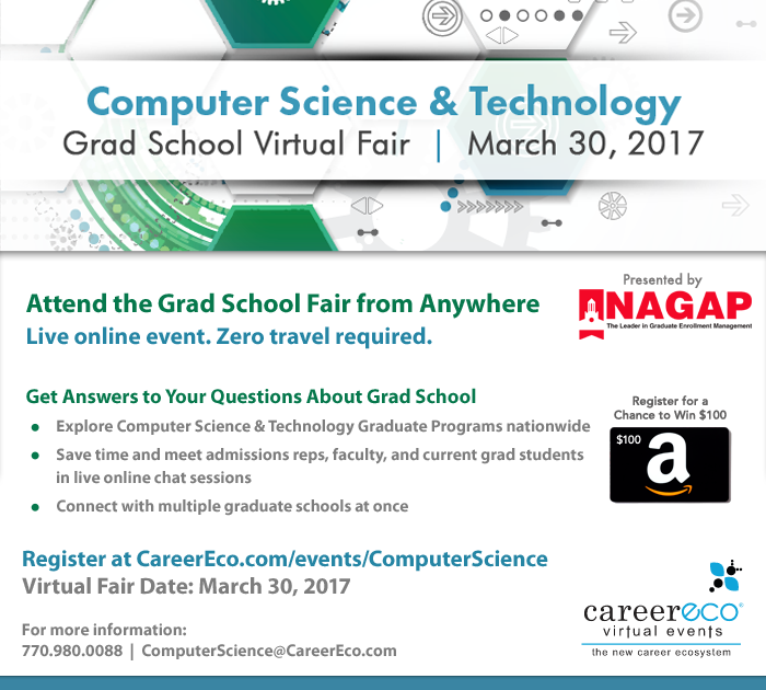Please Share: Computer Science & Technology Graduate School Virtual Fair on March 30th