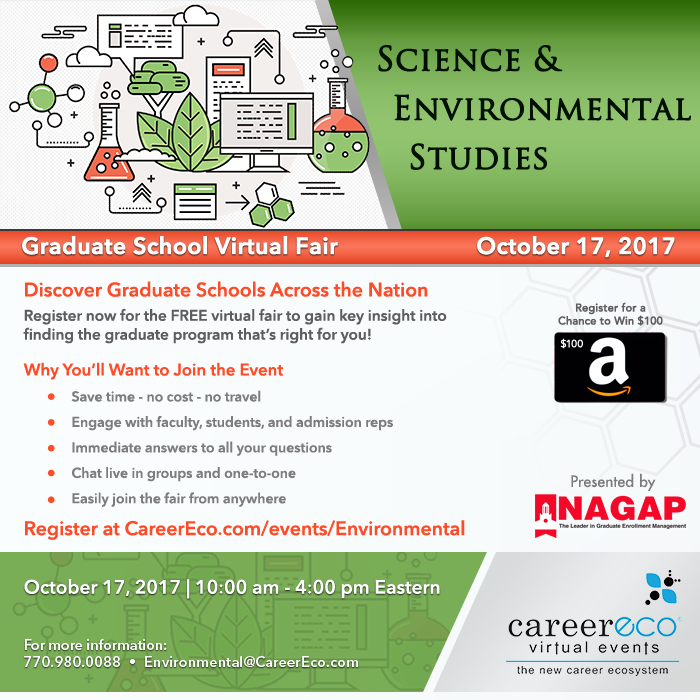 Please Share: Science & Environmental Studies Graduate School Virtual Fair on October 17th