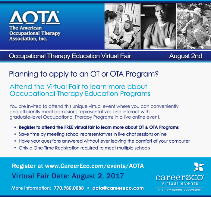 Occupational Therapy Virtual Fair image - click to go to registration page